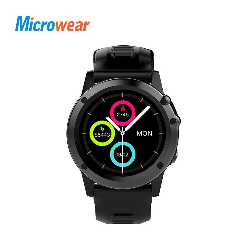 Microwear H1 Smart Uhr Android 4.4 IP68 Wasserdichte GPS WiFi 3g MTK6576 4 gb 512 mb Sport Smartwatch Herzfrequenz Bluetooth 4,0