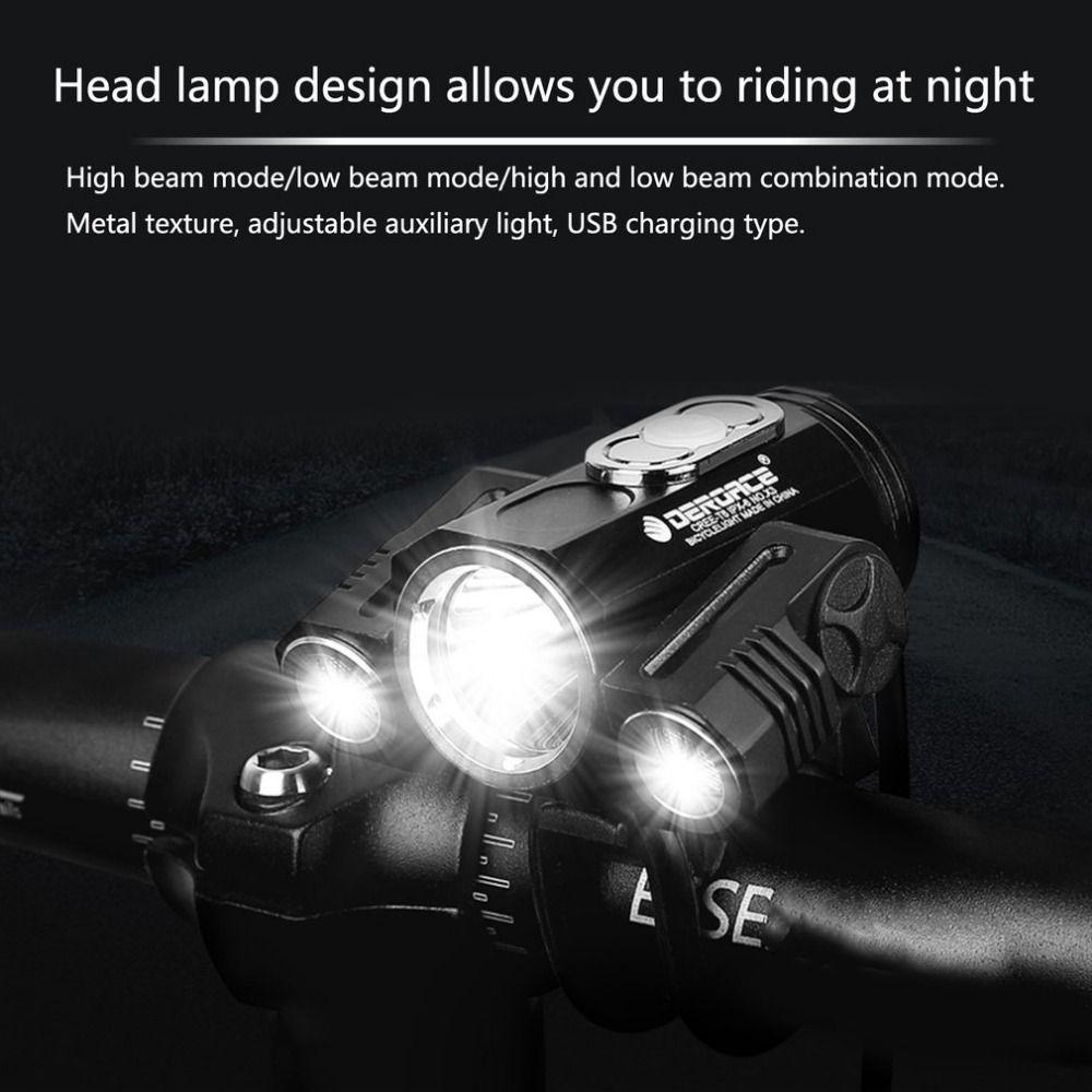 Einstellbare Hohe Licht Fahrrad Scheinwerfer USB Lade Lampe 3 Modus X3 T6 LED Fahrrad Kopf Licht Radfahren Front Lampe Neue stil