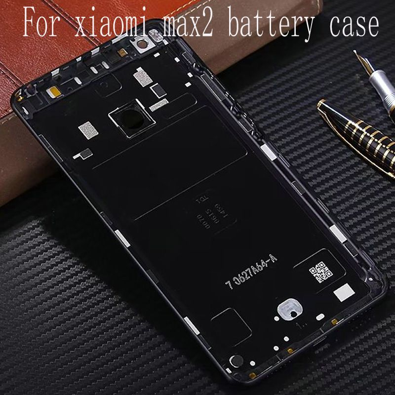 For Xiaomi Mi Max 2 Max2 Battery cover (6.44 inch) Back Rear Battery Housing Door Back Cover Case + Side Buttons Replacement
