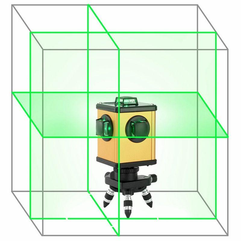 KaiTian Green Laser Level 12 Linien 360 Rotary Empfänger Elektronische Automatische Selbst Nivellierung 3D Laser Nivel 520nm Linie Laser werkzeuge