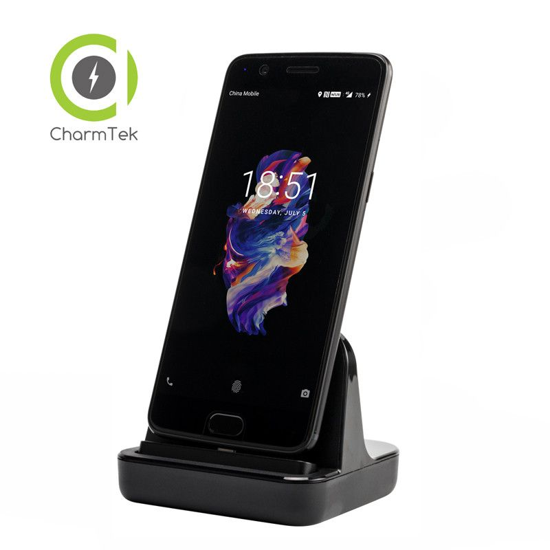 CharmTek USB Type-c Sync Charge Dock Charger Charging Cradle For Essential Ph-1 Huawei Mate 9 Oneplus 6 5T Support Dash Charge