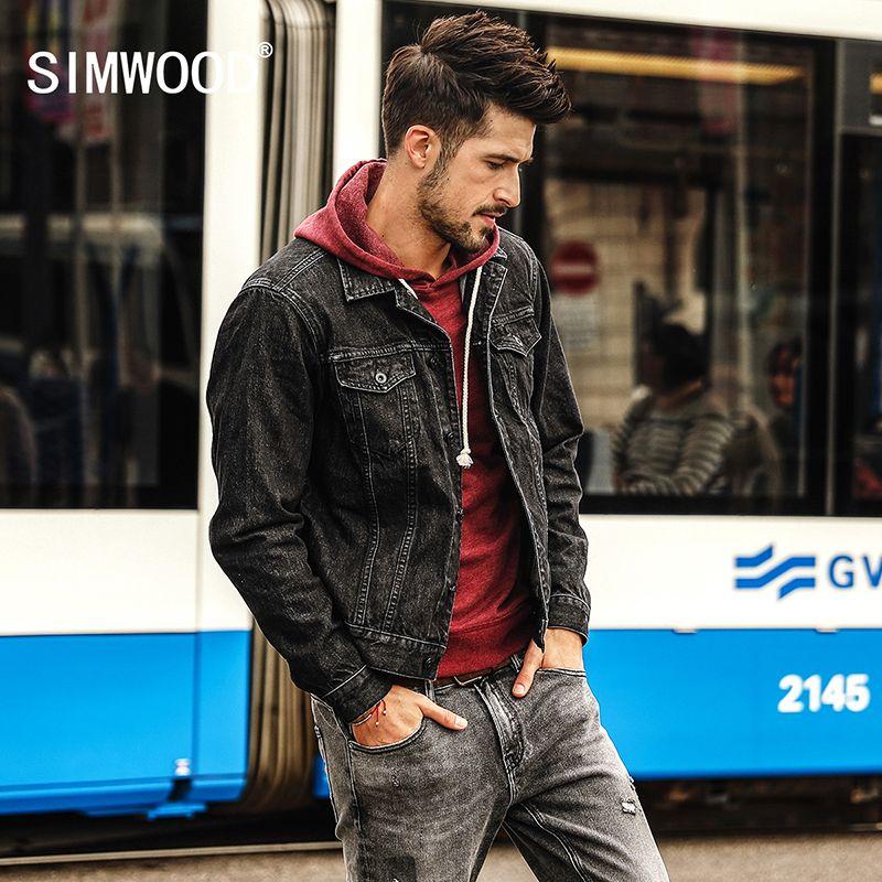 SIMWOOD Neue Herbst Winter Jeansjacke Männer Mode Lässig street Plus Größe Marke jacke Freies Verschiffen der Qualitäts NK017010