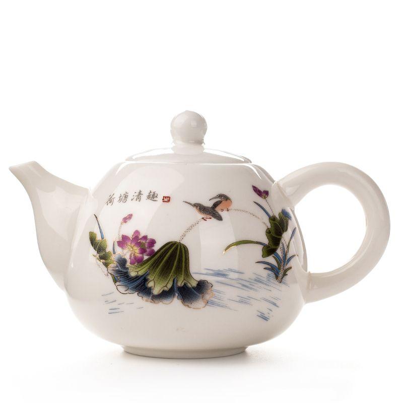 130 ml Théière En Porcelaine Tasse Avec Infuseur Blanc Porcelaine Thé ensemble En Céramique Café Thé Pot Bouilloire Antique Chinois Tasse De Thé Ensemble D001