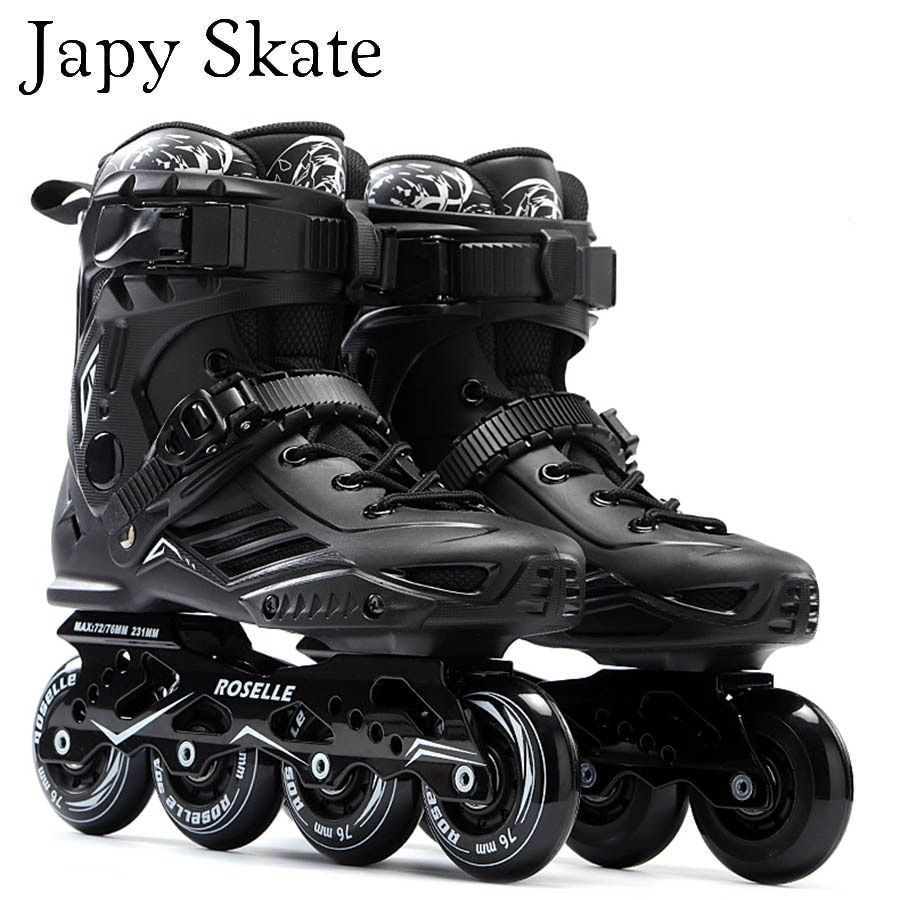 Japy Skate S6 Inline Skates Professional Slalom Adult Roller Skating Shoes Sliding Free Skating Good As SEBA Patines Adulto