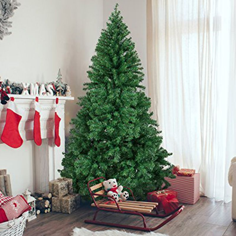 1.2M 1.5M 1.8M 2.1M Encryption Artificial Christmas Tree With Iron Base 2019 New Year Xmas Decorations For Home 4/5/6/7 Ft