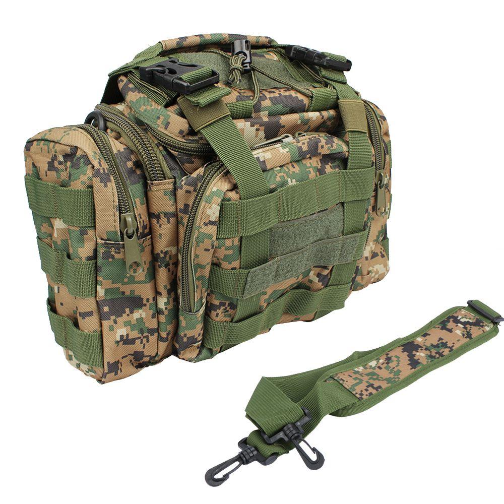 Multifonctionnel sac de pêche sac appâts sac pour matériel de pêche Sac À Dos Taille Pack sac d'extérieur 30*18*20 cm avec bandoulière