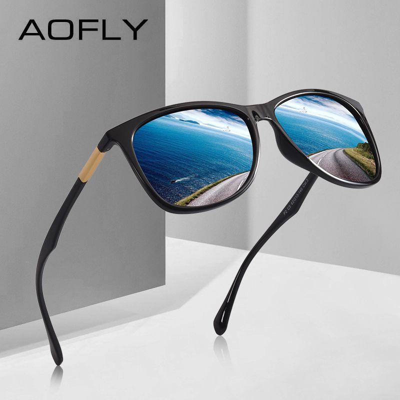 AOFLY MARKE DESIGN Klassische Polarisierte Sonnenbrille Männer Fahren TR90 Ultraleicht Sonnenbrille männer Brille UV400 Gafas AF8085