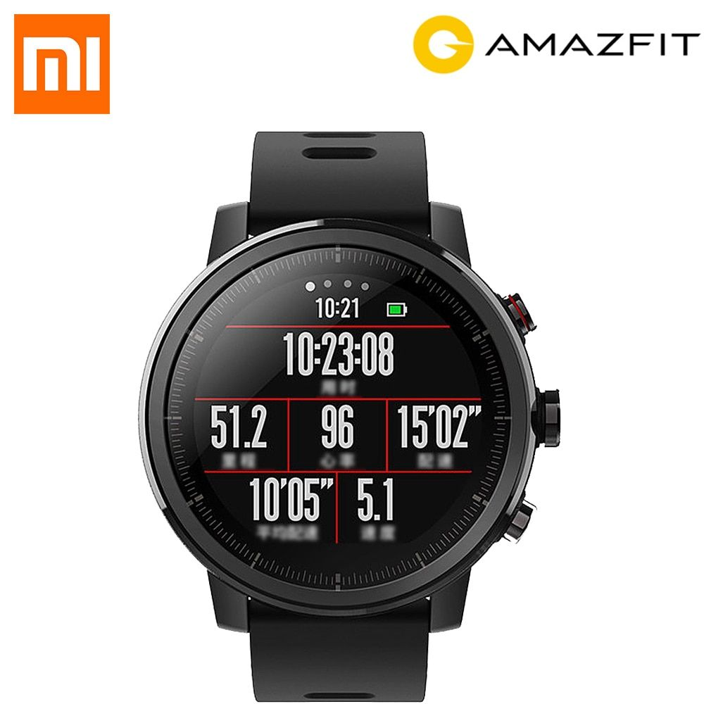 Xiaomi HUAMI AMAZFIT Stratos Smart Sports Watch 2 GPS 1.34' 2.5D Screen 5ATM Water GPS Firstbeat Swimming Smartwatch