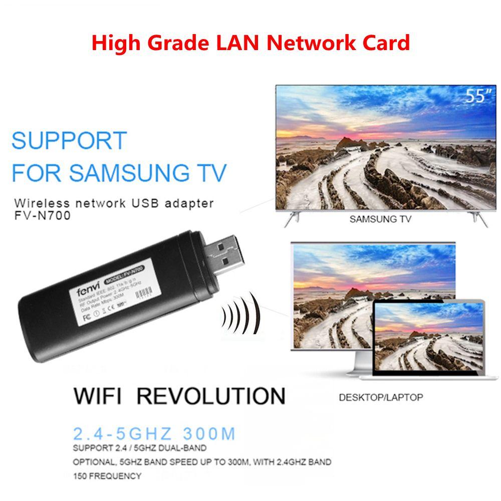Double bande 5G 300 Mbps Wifi WLAN adaptateur USB ordinateur portable Windows XP pour Smart TV Samsung WIS12ABGNX WIS09ABGN Wifi récepteur Audio