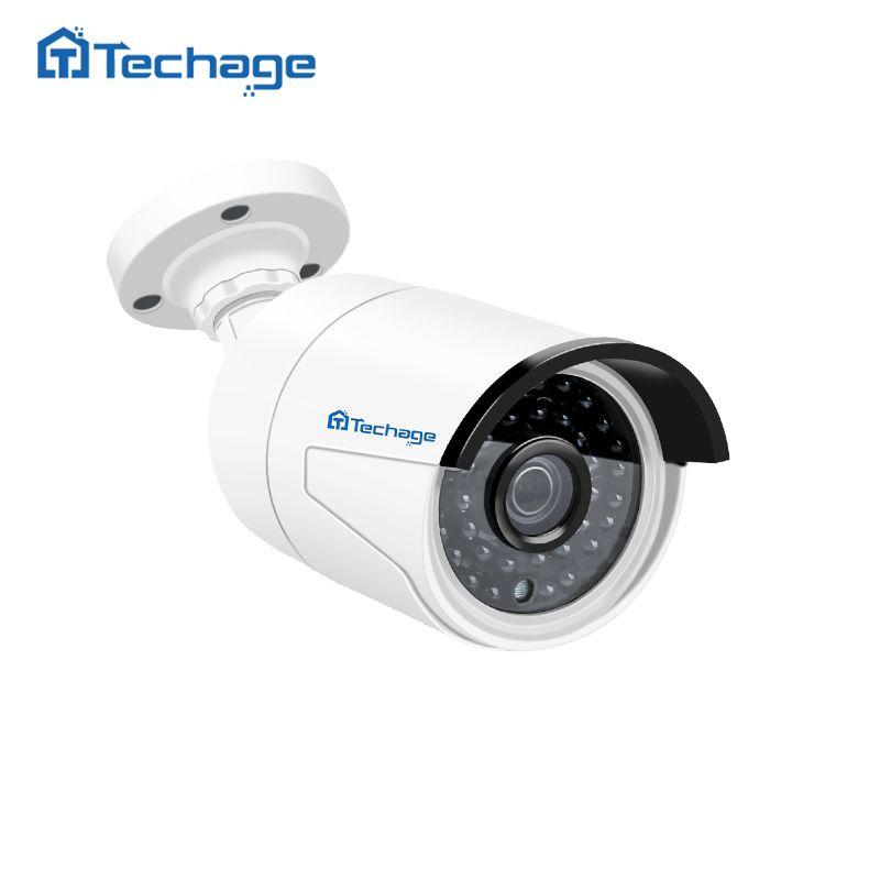 Techage H.265 4MP HD 48V POE IP Camera Outdoor Waterproof <font><b>Infrared</b></font> Night Vision ONVIF CCTV Security Video Surveillance Camera