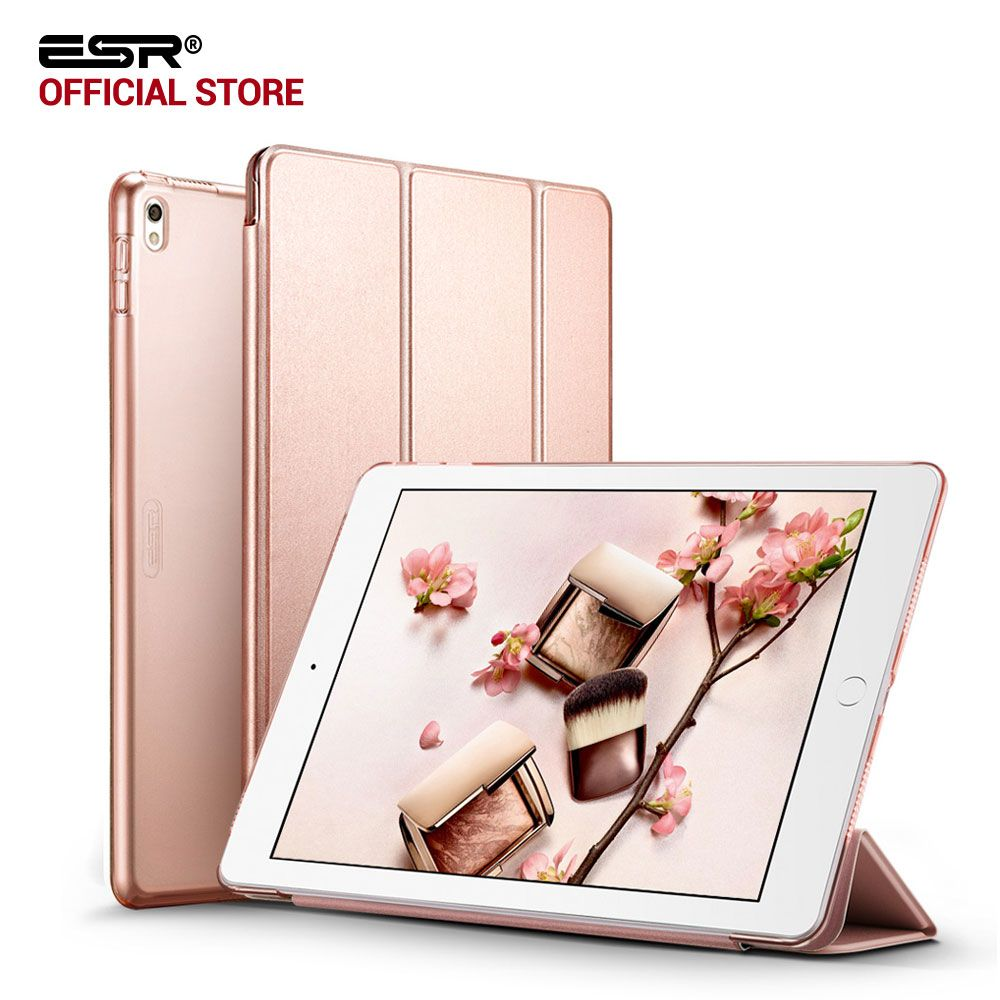 Case for iPad Pro 10.5 inches, ESR Yippee Color PU Leather Transparent PC Back Ultra Slim Light <font><b>Weight</b></font> Trifold Smart Cover Case