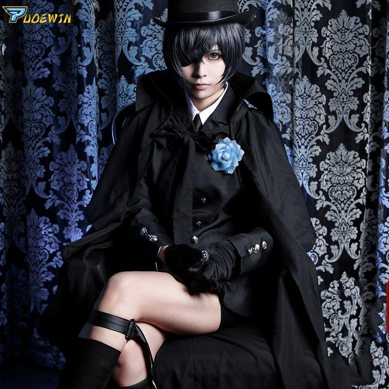 Costume de Cosplay funéraire de fantôme de Ciel de majordome noir d'anime Costume d'halloween de kuroshisuji