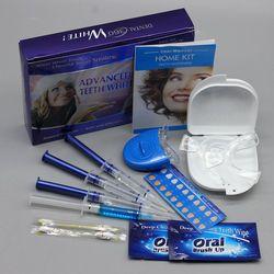 Отбеливание зубов комплект с 4 гель 2 полосы 1 Light 1 коробка зуб Whitener отбеливатель яркий белый 3d Гигиена полости рта Уход за зубами детей отбел...