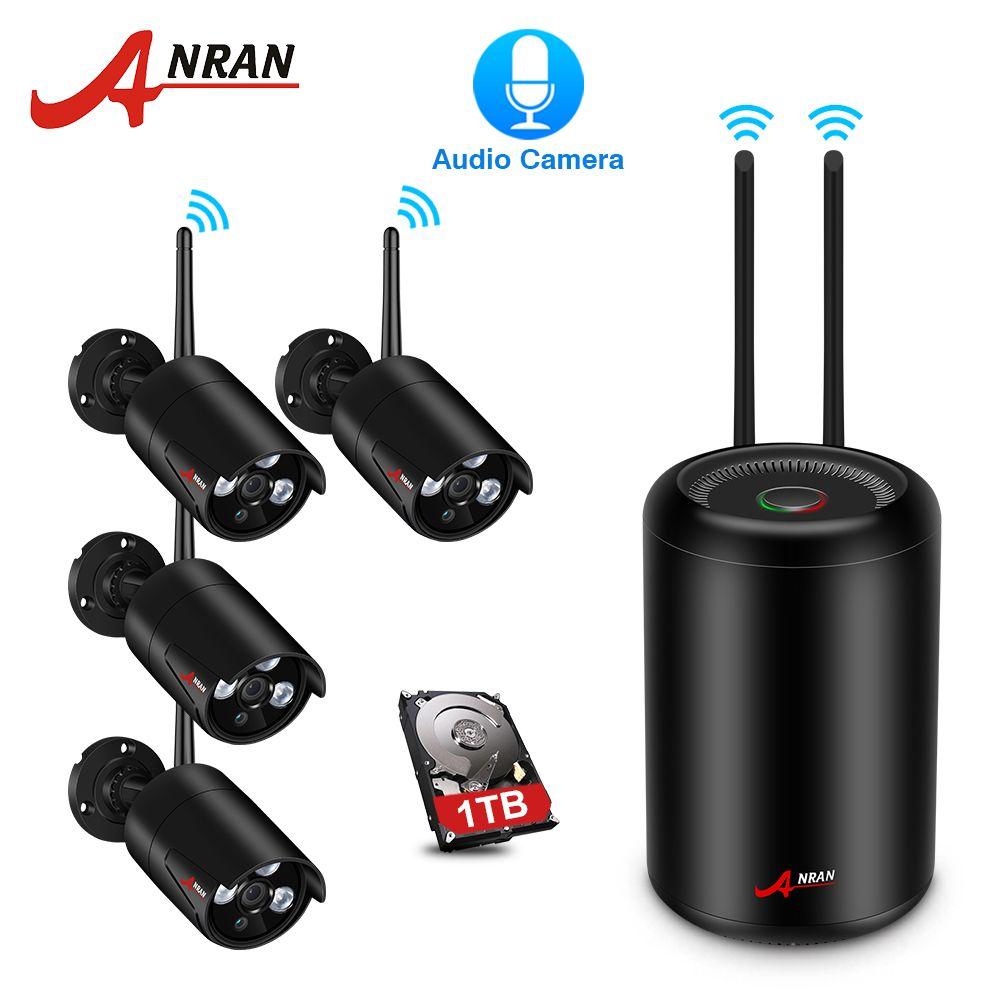 ANRAN Wireless NVR Kit Home Video Surveillance System 2.0MP Full HD WIFI IP Security Camera IR Night Vision Camera CCTV System