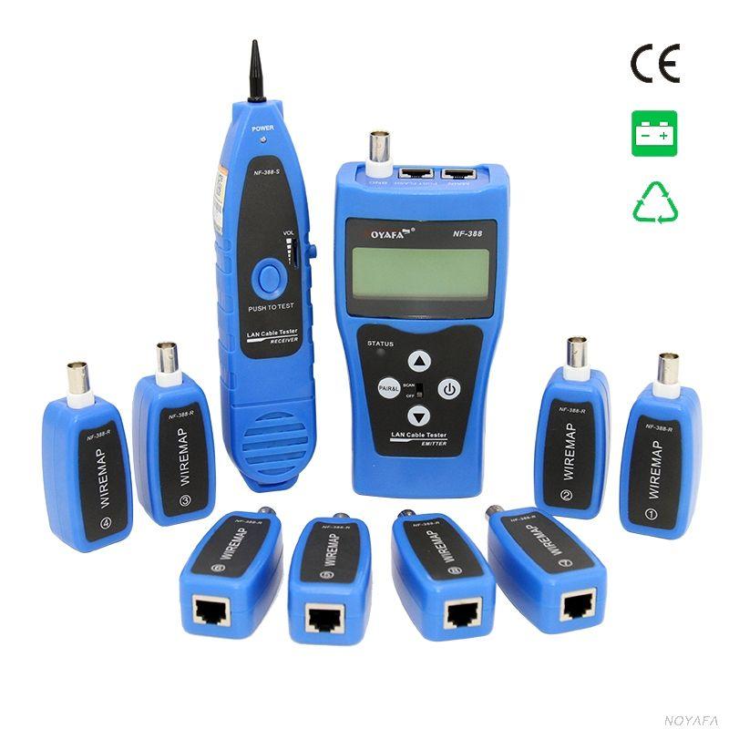 D'origine Noyafa câble NF-388 Bleu Anglais Version Multi-fonctionnelle câble Réseau testeur Câble tracker RJ45 lan testeur LCD affichage