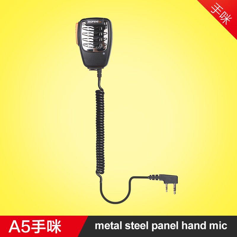 Nouveauté Portable métal micro main Microphone épaule haut-parleur pour Kenwood Baofeng 888 S UV5R talkie-walkie bidirectionnel Radio K Type