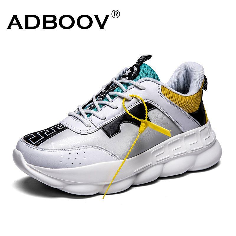 ADBOOV nouveau PU cuir femmes baskets grande taille 35-42 plate-forme chaussures dames hauteur augmentant Chunky baskets Zapatillas Sujer