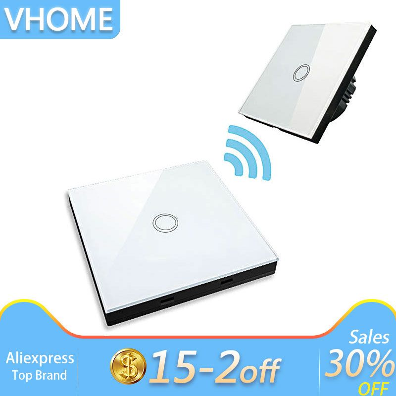 Vhome EU standard touch switches & wireless remote control,RF433Mhz Smart wall lamp bulb remote control switch