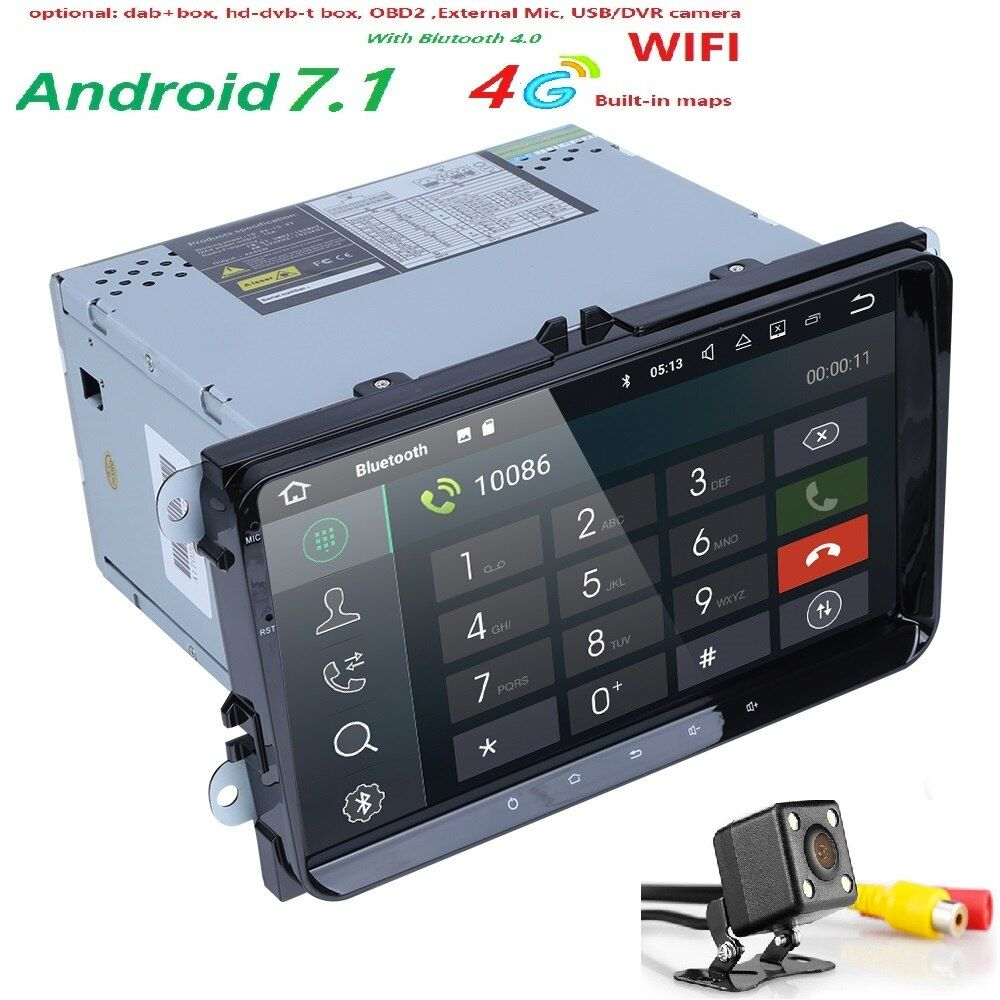 2G+16G 2 din android 7.1 car dvd for vw passat b5 b6 golf 4 5 tiguan polo skoda octavia rapid fabia multimedia gps player 4GWIFI