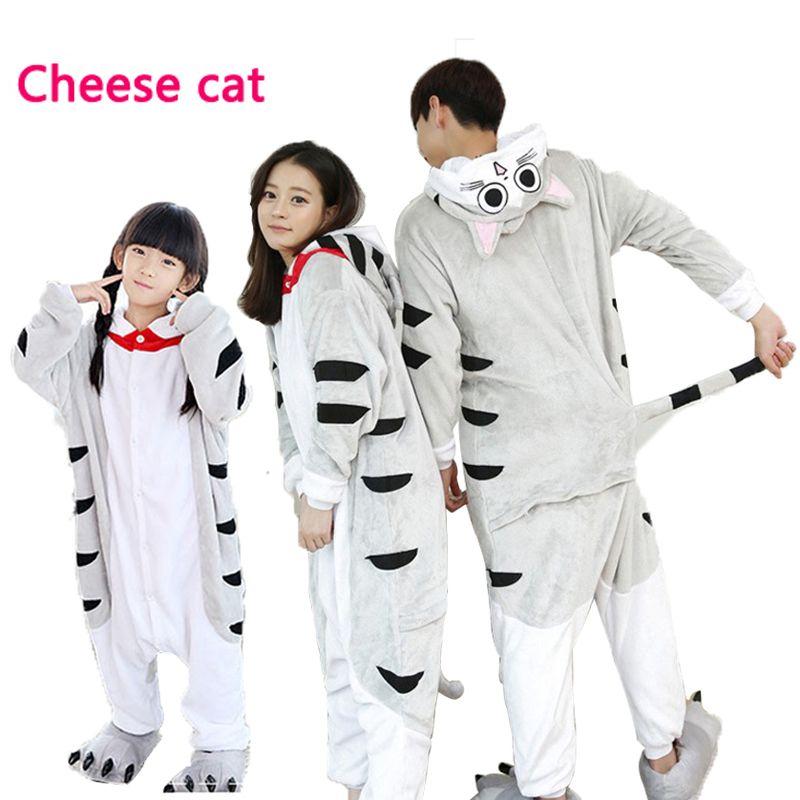New Wholesale Animal Women Pajamas sets Family Matching Outfits Totoro Onesie Adult Children Unisex Cosplay Costume  Sleepwear