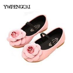Semua Ukuran 21-36 Anak Perempuan Sepatu Baru 2017 Anak Sepatu Gadis Putri Bunga Flat Tunggal Bayi Perempuan sepatu # DX001