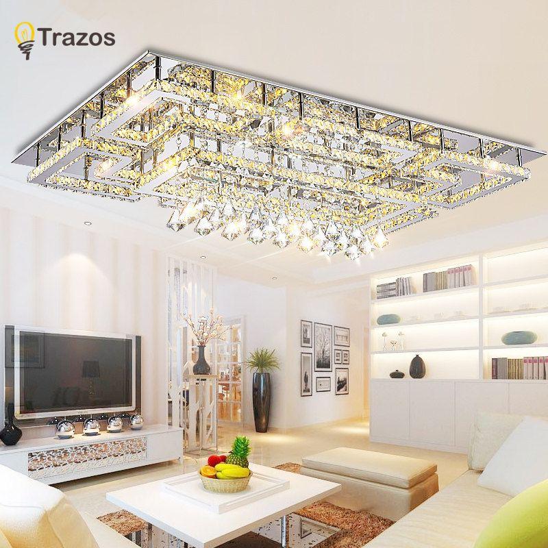 Luxus Moderne Kristall Decke Licht Mit Glas Lampenschirm Gold Decke Lampe für Wohnzimmer Schlafzimmer lamparas de techo abajur