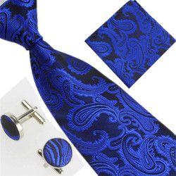 Men's Ties Yellow Paisley Silk Jacquard Tie Hanky Cufflinks Set Men's Business Gift Ties For Men drop Shipping