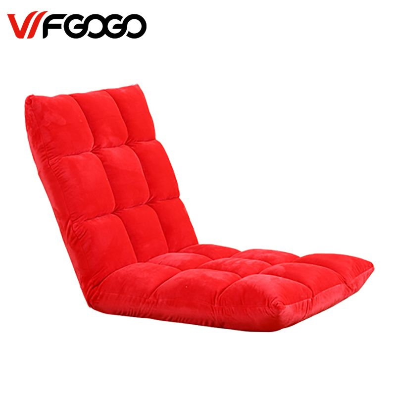 WFGOGO Modern Living Room Lazy Sofa Couch Floor Gaming Sofa Chair Folding Adjustab Sleeping  Sofa Bed Lazy Living Room Furniture