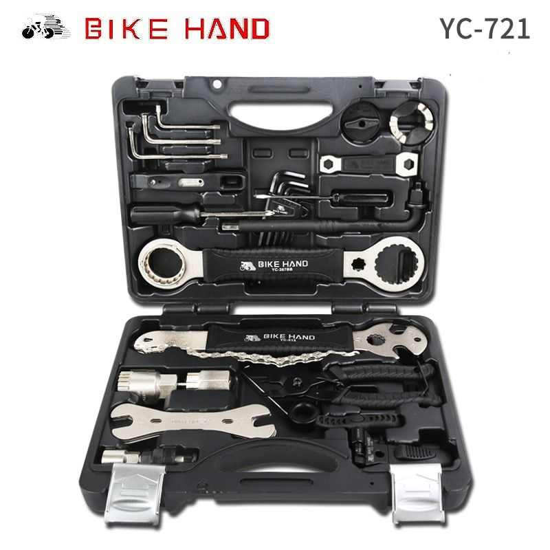 Bike Hand Multifunktionale Fahrrad Repair Tool Kits YC-721 Professionelle Bike Werkzeugkasten Shop-Tool Set Radfahren Reparatur Fall Werkzeug-set