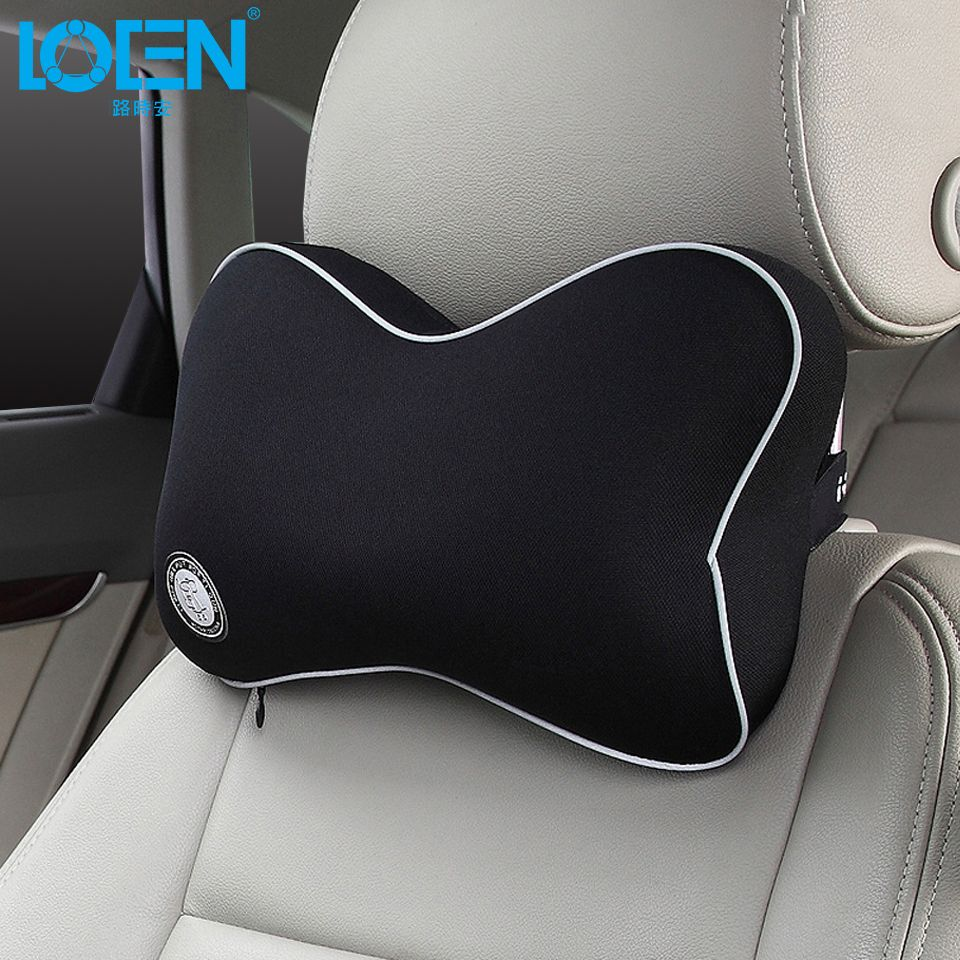 LOEN Car pillow Neck support back butterfly headrest universal for toyota audi bmw jeep dodge bens ford  1PC Memory foam