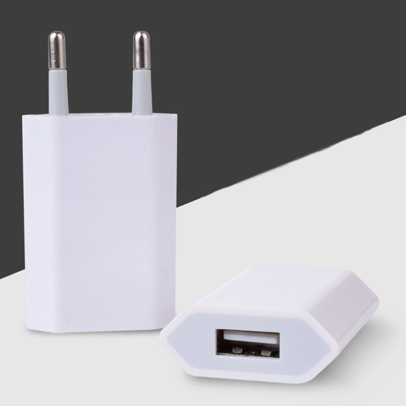 10pcs/lot Phone Charger USB Travel Moblie Phone EU Plug 5V 1A Wall Power Adapter for iPhone for iPad for Sumsung Xiaomi Huawei