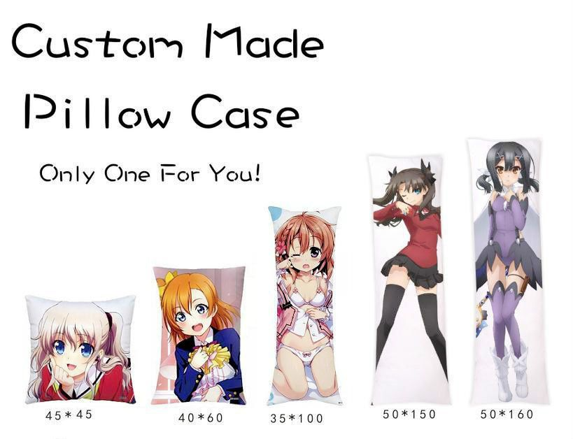 <font><b>Japanese</b></font> Anime Custom Made DIY Hugging Body Pillow Cover Case Two Sides Pillow Cases Personalized dropshipping wholesaler