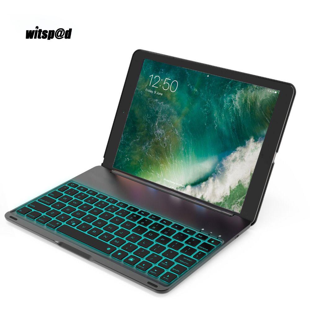 Witsp @ d Für Ipad Pro 10,5 Tablet Tastatur USB Hintergrundbeleuchtung Smart fall Abdeckung Luxus Bluetooth Tastatur Für iPad Pro 10,5 Smart fall