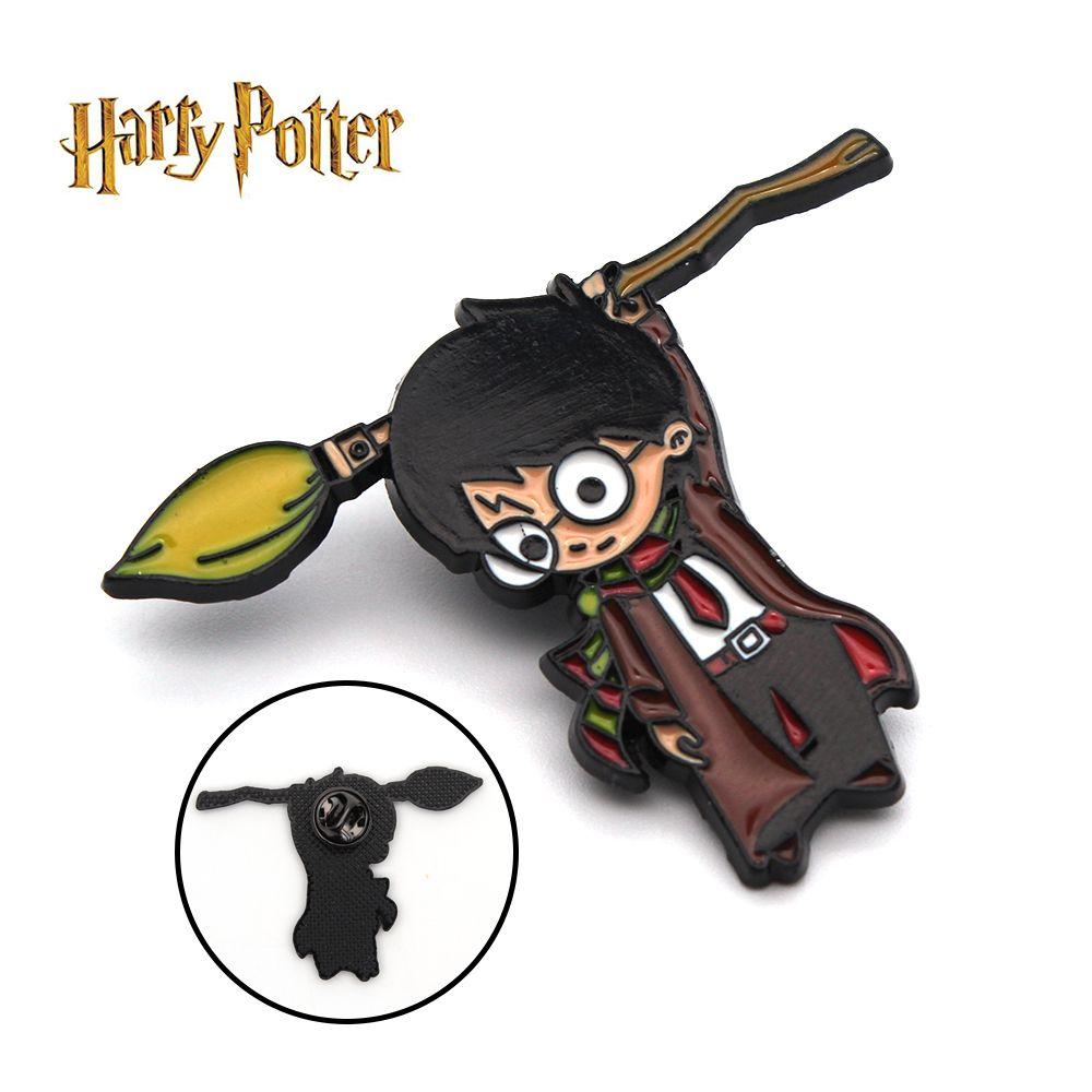 Harri Potter Besen Firebolt Nimbus 2000 Symbol Metall Handgemachte Abzeichen Brosche Pin Brust Ornament Cospaly Sammlung Geschenk Kühlen