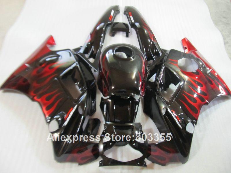 Fit für HONDA CBR600 F2 1994 1993 1992 1991 meistverkaufte Verkleidungen cbr 600 (rot flammen) verkleidung kit 91 92 93 94 jahr xl90