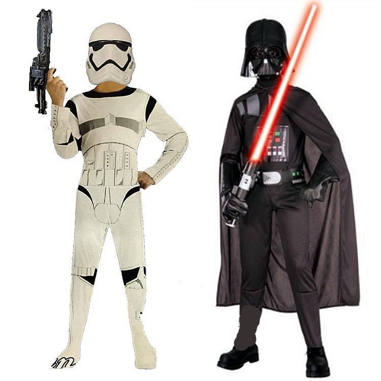 Enfants carnaval vêtements Star War Storm Trooper dark vador Anakin Skywalker enfants Halloween Cosplay fête Costume vêtements Cape