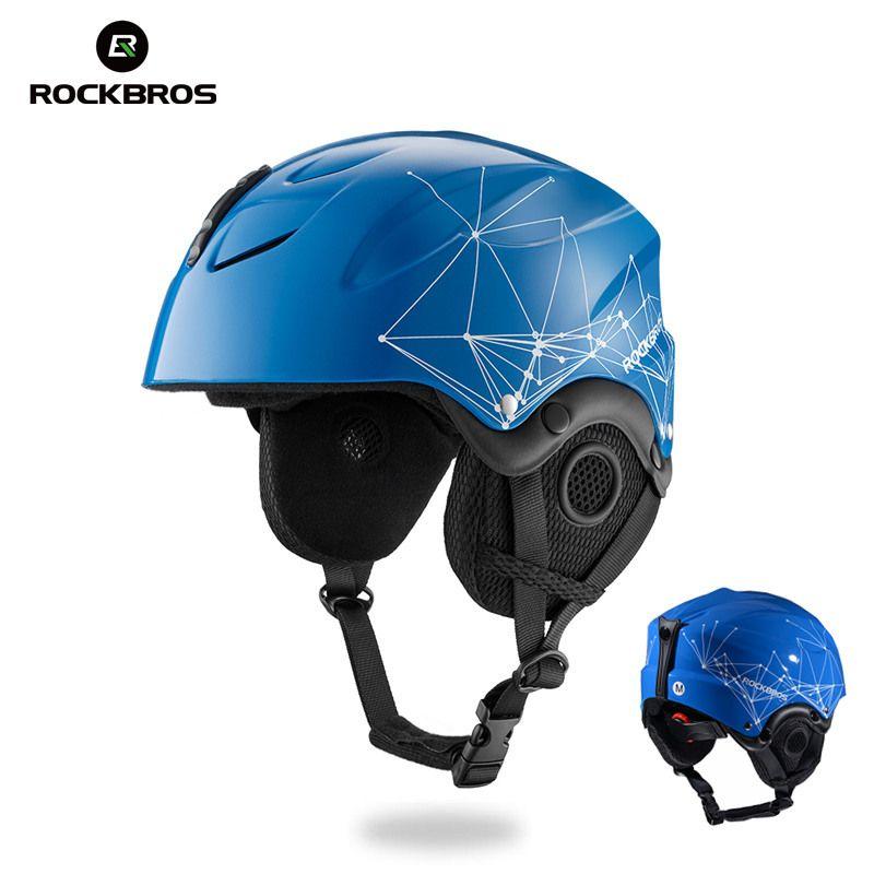 ROCKBROS Skihelm EPS Integral geformten Ski Helme Snowboard Doppel Platte Skateboard Winddicht Thermische Für Männer Frauen Jugendliche