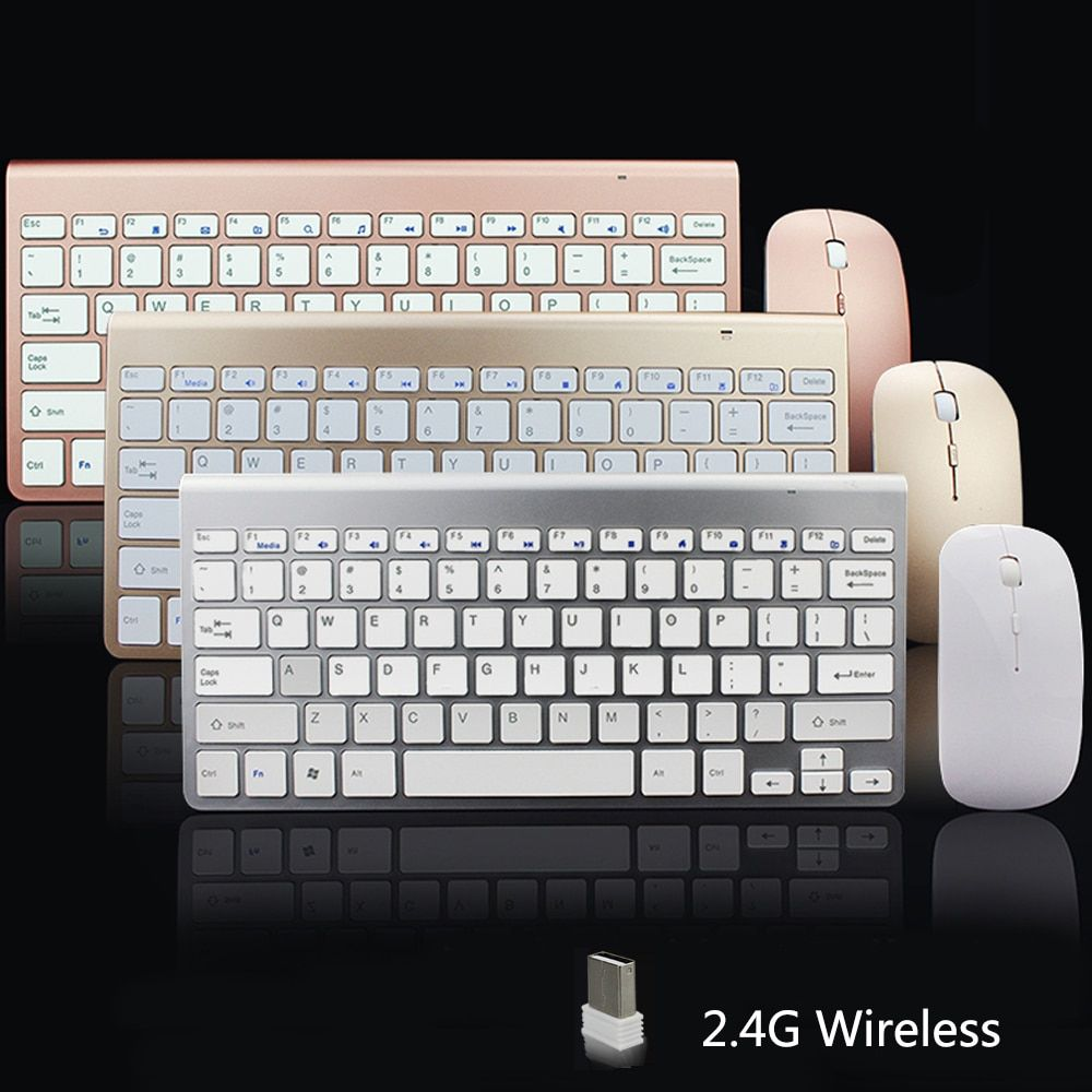 SUNGI 2.4G Ultra-Mince Clavier Sans Fil et Souris Combo Conception À La Mode Souris Clavier Ensemble Pour Apple Mac PC Windows XP/7/8/10