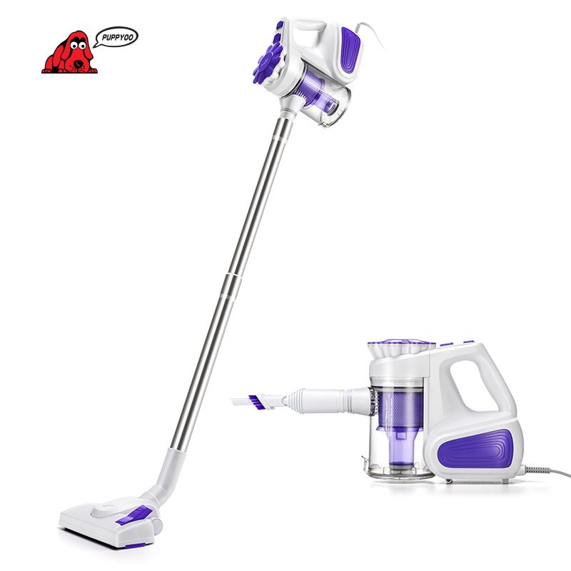 PUPPYOO Low Noise Portable <font><b>Household</b></font> Vacuum Cleaner Handheld Dust Collector and Aspirator WP526-C