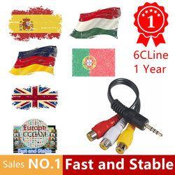 HD Cccams Cline para 1 año Europa envío satélite Ccam cuenta FHD 1080 p Sever Italia/España/francés /Alemania IKS 6 líneas AV Cable TV