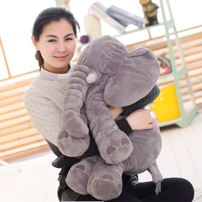BOOKFONG 40/60 cm Infantile Peluche Elephant Apaiser Éléphant Playmate Calme Poupée Bébé Jouet Éléphant Oreiller En Peluche Jouets en peluche Poupée