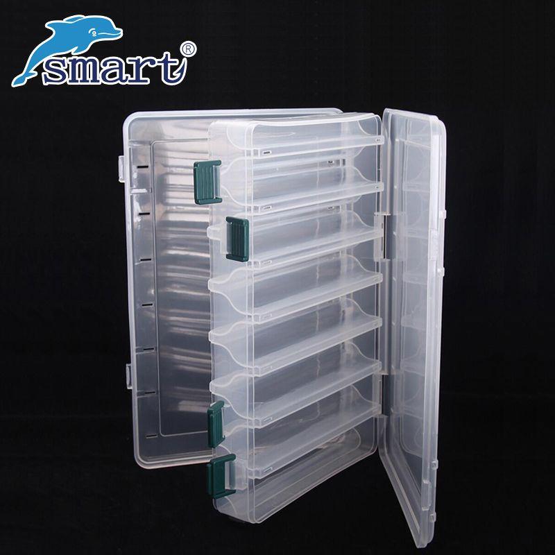 Étanche Boîte De Pêche Double Face 12 Compartiments Pêche Leurre Boîtes Caja Pesca Accessoires Séparée Valise De Peche