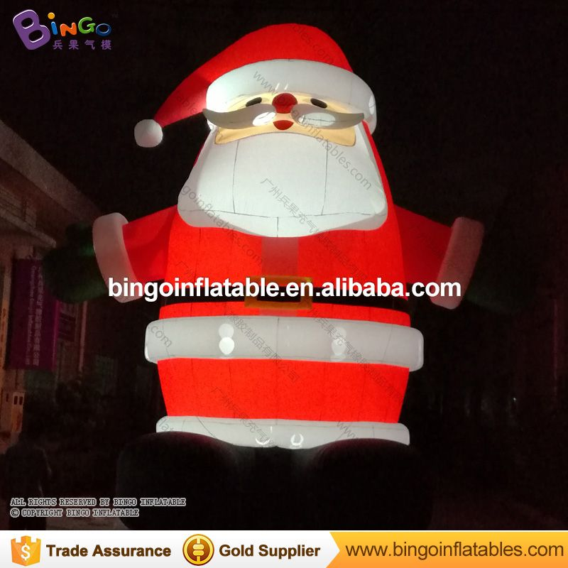Hot selling 6m/20ft inflatable santa claus giant christmas outdoor santa with led light for Xmas decoration