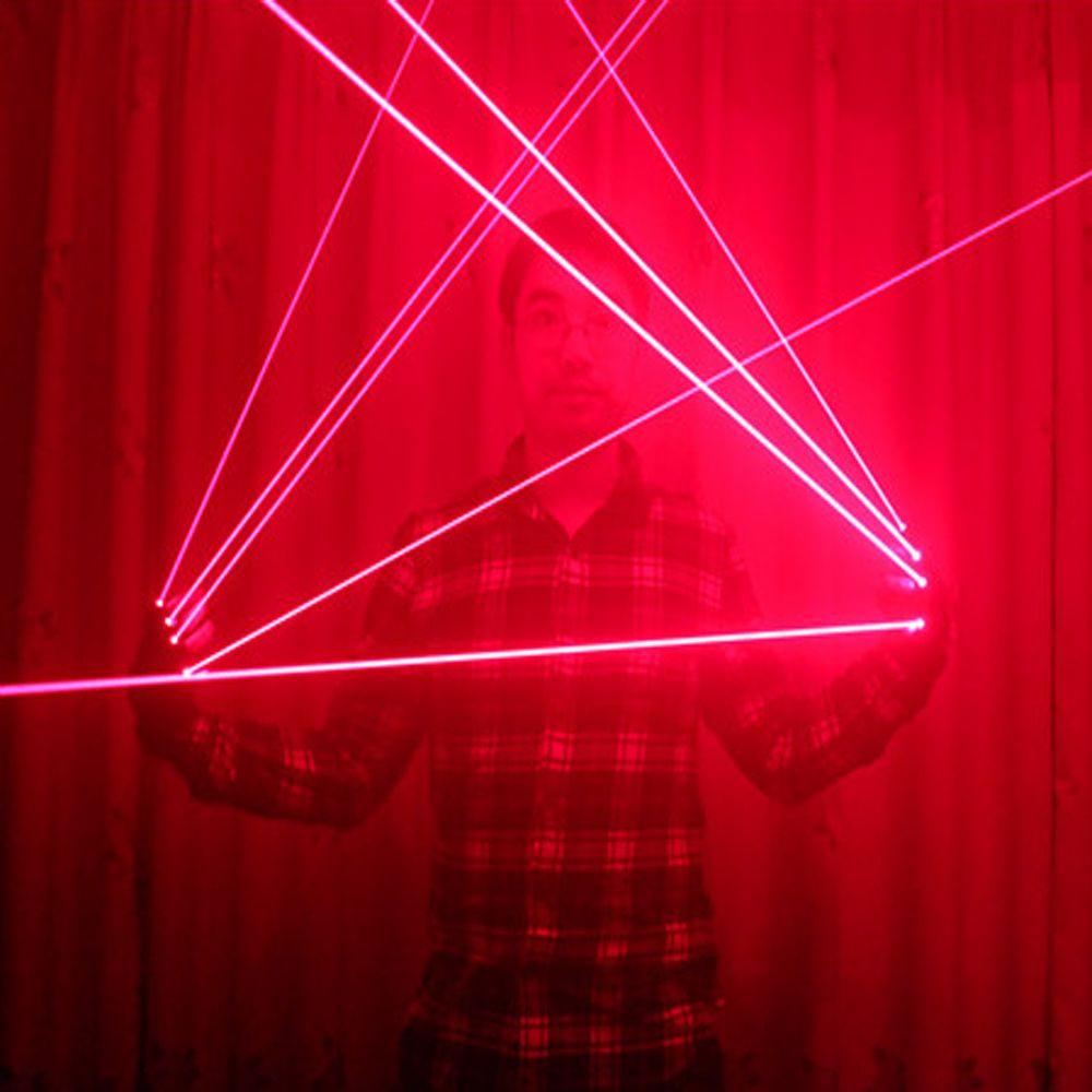 Gants Laser rouge avec Laser 4 pièces 650nm, gants laser LED disco, pour spectacle de fête DJ Club