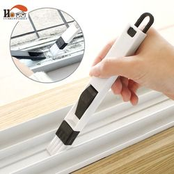 2 en 1 multi-fonction fenêtre fente brosse avec pelle écran clavier tiroir armoire coin écart dépoussiérage nettoyage brosse
