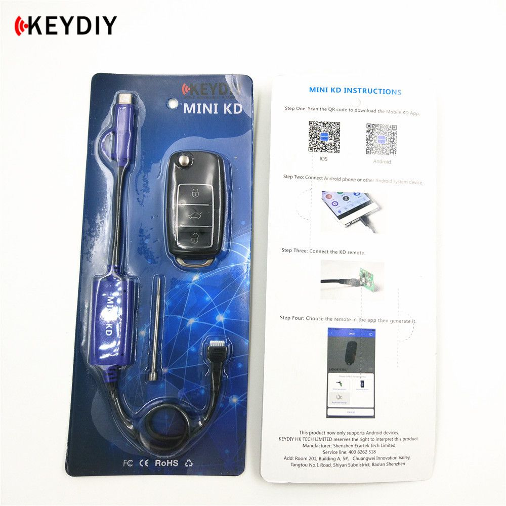 KEYDIY Mini KD I Key Remote Maker Generator For Android IOS System Free Update Forever Make More than 1000 Remotes