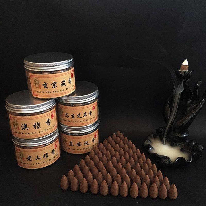 70 Pcs Naturel Refoulement Cône Grain Parfumé Aromatique Naturel Santal Utiliser Dans Le Salon Étude Bureau