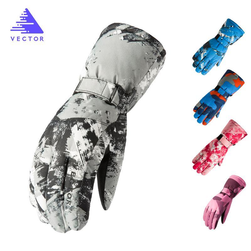 Vectoriel imperméable gants de Ski hommes femmes chaud Ski Snowboard gants motoneige moto équitation hiver extérieur neige gants