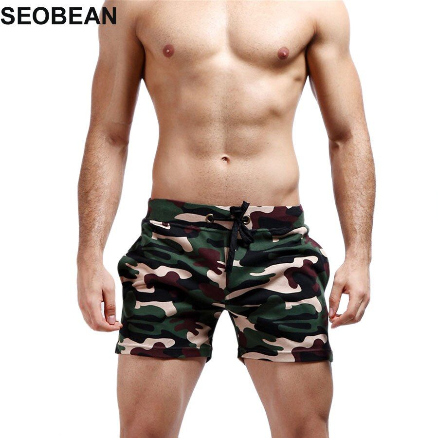 2 pieces Camouflage beach Boxer Men Swimwear Shorts Sexy Sunga Masculina Men'S Swimming Trunks men briefs sport men Swimsuit 372