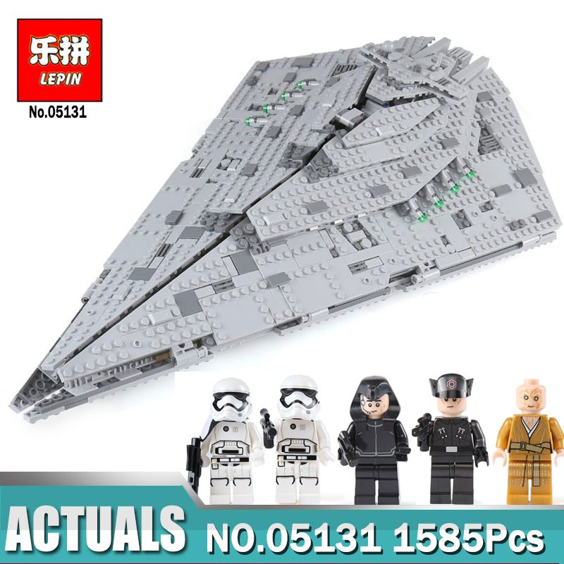 Lepin 05131 1585Pcs Genuine Star Plan Series The First order Star Model Destroyer Set LegoING 75190 Building Blocks Bricks Toy